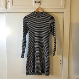 American Apparel Long Sleeve Striped Dress Sz M